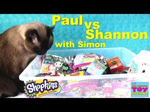 Paul vs Shannon with Simon Blind Bag Opening | Shopkins Moofia Disney | PSToyReviews