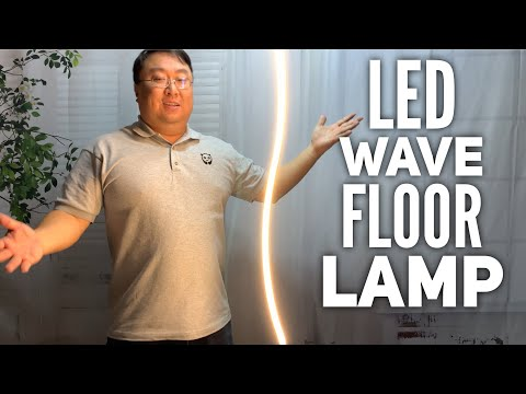 Contemporary Wave Pole LED Floor Lamp by Brightech Review