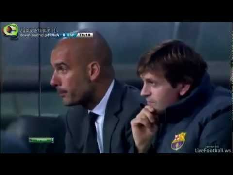 The best match Barca and hugged Guardiola by Messi.