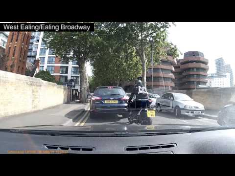 DRIVING MAD - west ealing, stupid biker