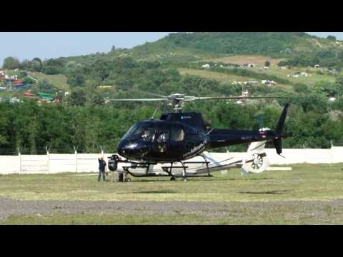 Eurocopter AS 350 Ecureuil (HA-ECU) helicopter landing / Ring heliport
