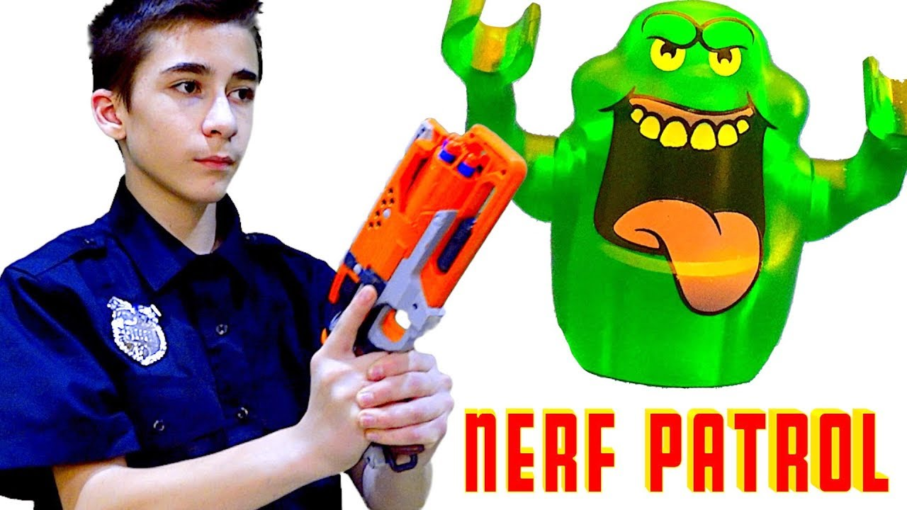 Nerf Patrol Battles the Ghosts! - YouTube