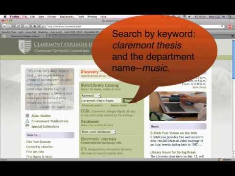 Finding CGU Dissertations