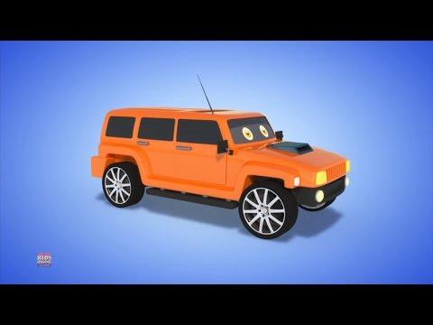 hummer | hình thành và sử dụng | video xe | Formation And Use | Kids Vehicle Video | Toy Vehicles