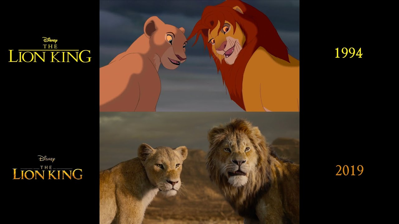 The Lion King (1994/2019) side-by-side comparison