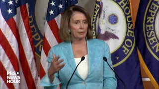 Nancy Pelosi holds her daily news conference