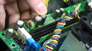 Ремонт компьютера, вздутый конденсатор, сгоревшая видеокарта, виндовс 10 на старом нетбуке