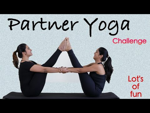 partner yoga challenge  super funny  acro yoga poses