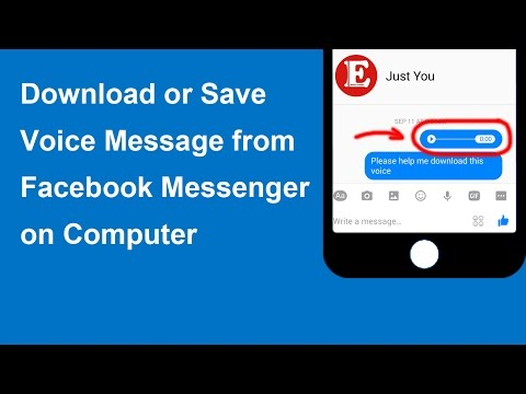 How To Save Or Download Voice Message From Facebook Messenger Or Chat On PC