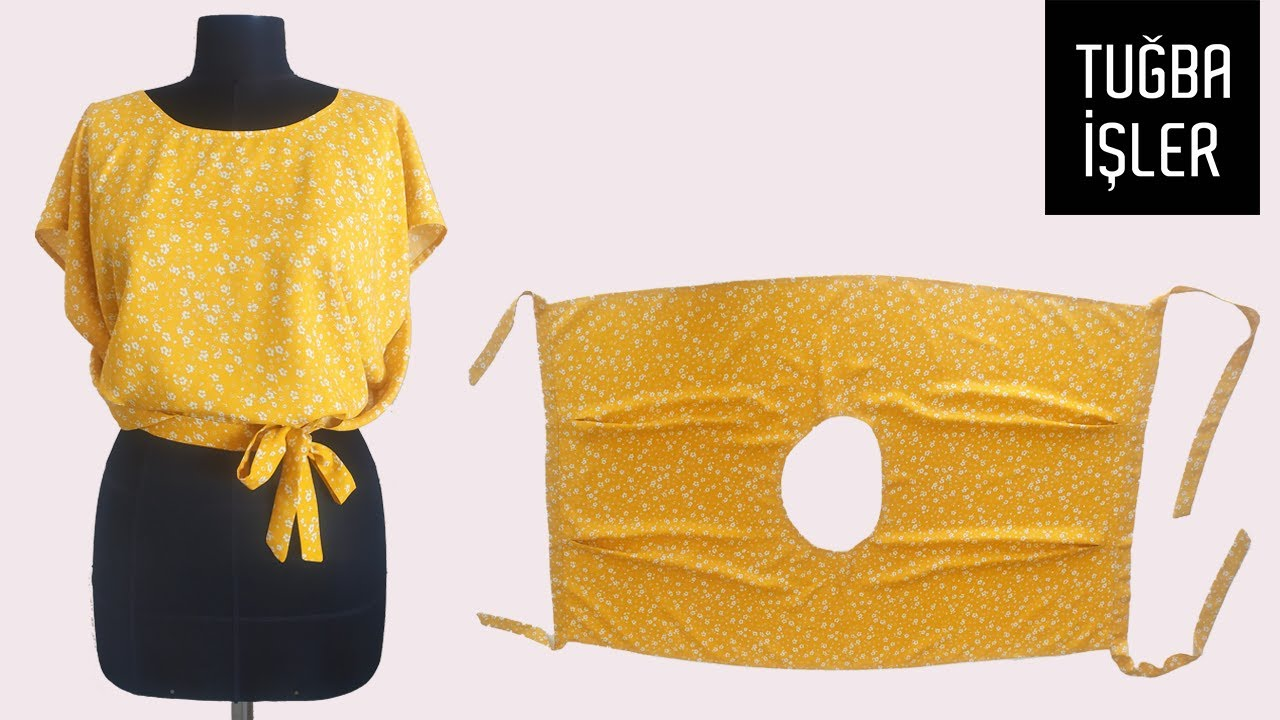 Very Easy Apron Blouse Cutting and Sewing | Tuğba İşler