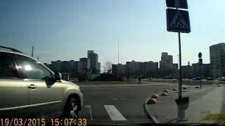 19.03.2015 Гомель, магазин Гиппо, Lexus 4094 EP-3 не уступил дорогу