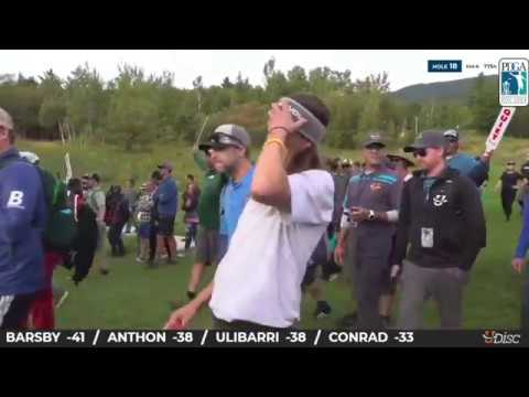 Gregg Barsby - Final Hole 2018 Disc Golf World's (Disc Golf Guy)