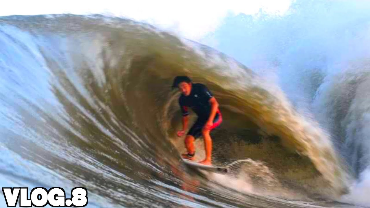 「台風の波と最高の写真を撮ってもらう」