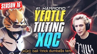 "Hammond GOD ""Yeatle"" TILTS xQc *TOXIC RAGE* in Competitive [Overwatch S16]"
