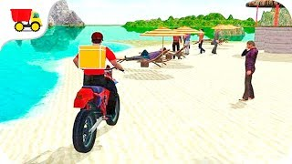 Bike Racing Games - Water Surfer - Fast Food Motorbike Delivery - Gameplay Android & iOS free games