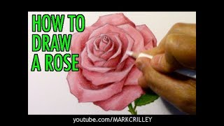 How to Draw a Rose (and Add Color)