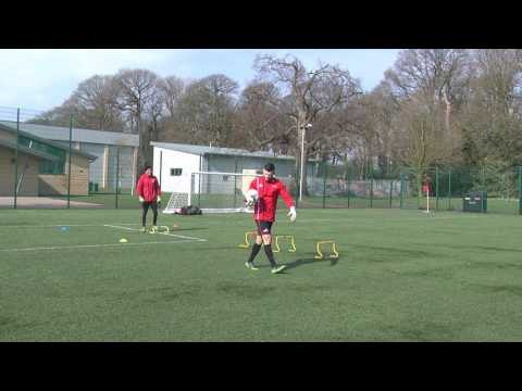 Goalkeeper Field Transition - Reaction Speed, Agility & Power (Part 2)