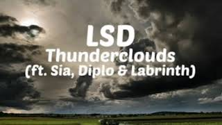 Download LSD Thunderclouds (ft. Sia, Diplo & Labrinth) backsound samsung galaxy note 9 + link download Mp3
