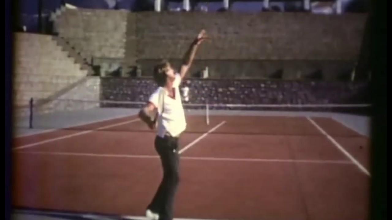 Lew Hoad Service 2 at tennis camp Mijas Spain