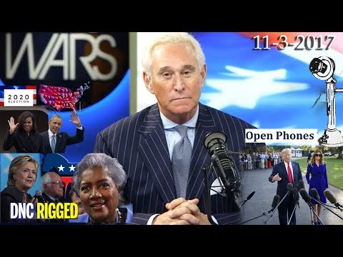 Roger Stone Discusses Donna Brazil Clinton, Obama, Democrats Future, Open Phones Current Events