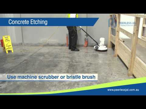 How to Etch & Coat Concrete and Hard Stone Floors