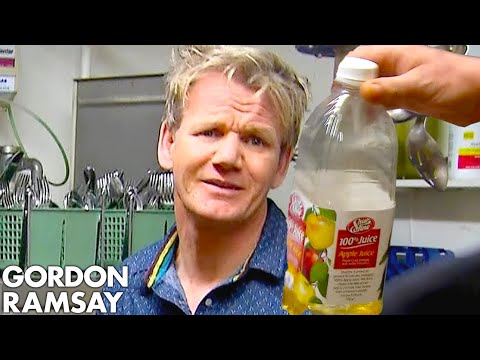 Thumbnail: Ramsay Can't Handle Being Served APPLE JUICE Risotto! | Hotel Hell