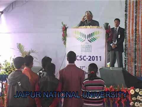Dr.A.P.J. Abdul Kalam Interacting with Students(JNU JAIPUR)