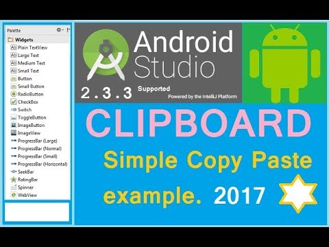 Android clipboard example Copy Paste tutorial Android studio