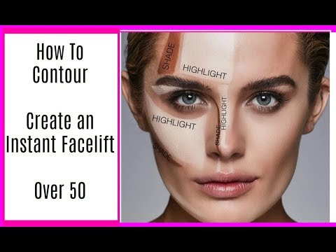 OVER 50 - How To Contour to Create an INSTANT FACELIFT