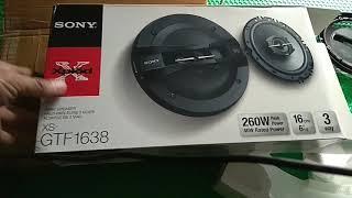 Unboxing Speaker Sony XS-GTF1638