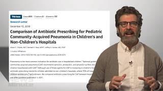 How did prescription guidelines for pneumonia change behaviors?