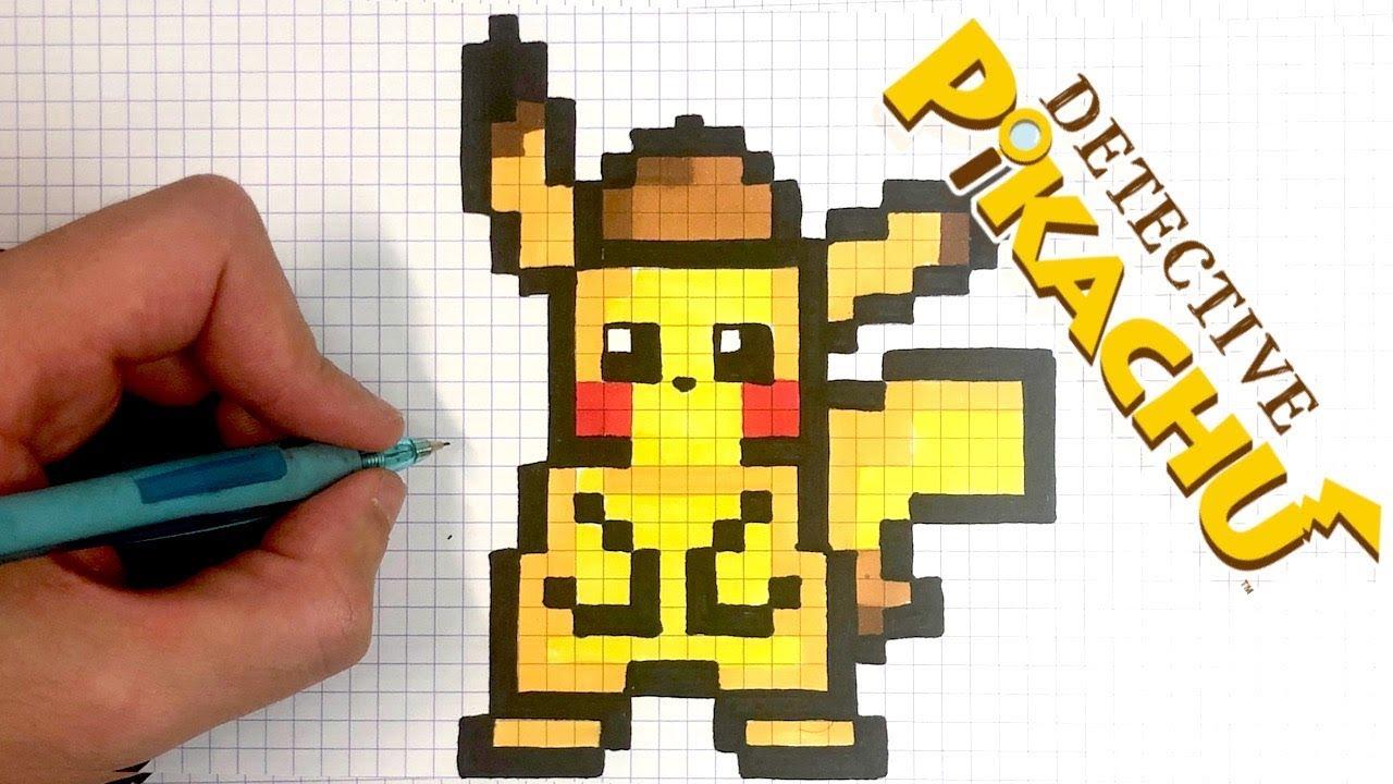Pixel Art Detective Pikachu