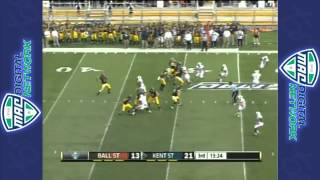 09/29/2012 Ball State vs Kent State Football Highlights