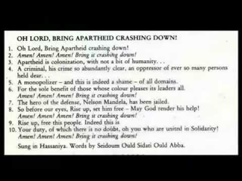 Oh Lord Bring Apartheid Crashing Down.- Khalifa Ould Eide&Dimi Mint Abba