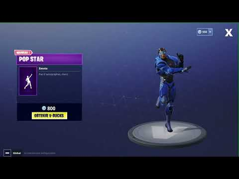 POP STAR NEW EMOTE (FORTNITE)