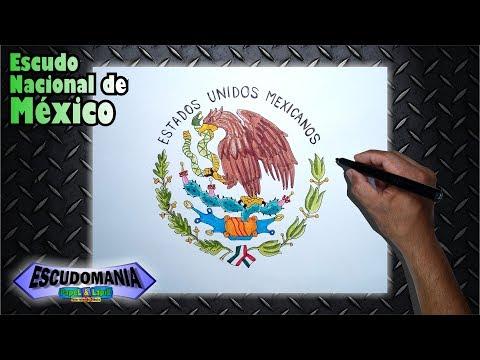 Aprende A Dibujar Y Pintar El Escudo Nacional De Mexico Youtube