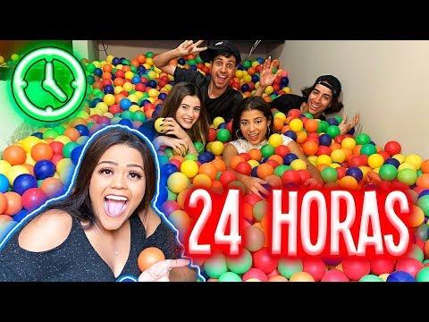 24 HORAS NA PISCINA DE BOLINHAS !!!