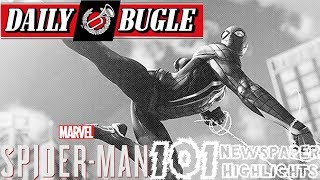 Spider-Man PS4: 101 - Daily Bugle Newspaper Highlights!!! Spidey MISSING, Peter's Job, & More!!!
