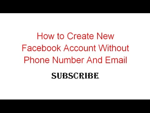 How To Create New Facebook Account Without Phone Number