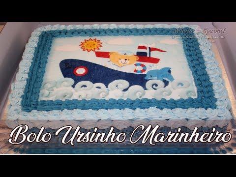 BOLO DE URSINHO MARINHEIRO l BOLO DE ONDA l CONFEITANDO