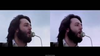 THE BEATLES~ GET BACK ~Rooftop Performance 69' Split Screen[HQ]
