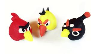 Play Doh   Play & Learn How to Make Angry Birds  - معجون اطفال: تعلم كيف تصنع طيور غاضبة انجري بيردز