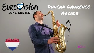 Duncan Laurence - Arcade - Eurovision 2019 Winner - The Netherlands [Saxophone Cover by JK Sax]