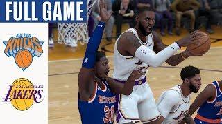 Knicks vs Lakers Full Game Highlights! January 7, 2020 NBA Season | NBA 2K20