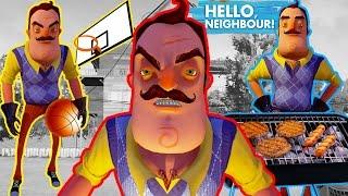 ПРИВЕТ СОСЕД Альфа 1 ЗАБАГОВАННЫЙ СОСЕД ЕСТ ШАШЛЫК ИГРАЕТ В БАСКЕТБОЛ игра Hello Neighbor Alpha 1