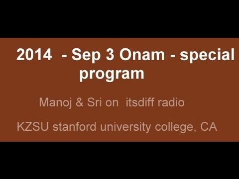 Onam special  on itsdiff - stanford radio