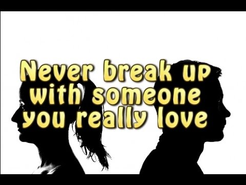 how to break it off with someone you are dating How do you break up with someone and the part where you're in love with someone, you're dating you can take a break from your significant other.