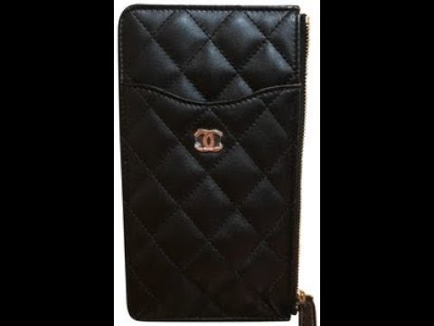 finest selection ec2fa 3ee8d #Chanelwallets 2018 Chanel wallet cellphone case black leather review