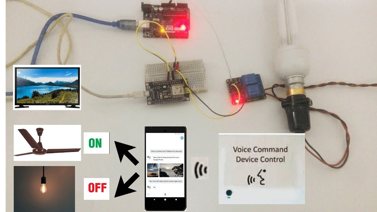 Voice Control Home Automation Using Arduino And 2 Channel Relay Wiring