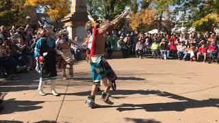 Indigenous Peoples Day Celebration 2017 -  Zuni Pueblo - Soaring Eagle Dance Group Clip1